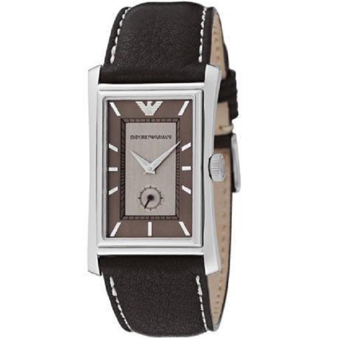Ρολόι Ανδρικό Armani AR0150 Classic με δερμάτινο λουρί και καφέ μπεζ καντράν 81f9506596b