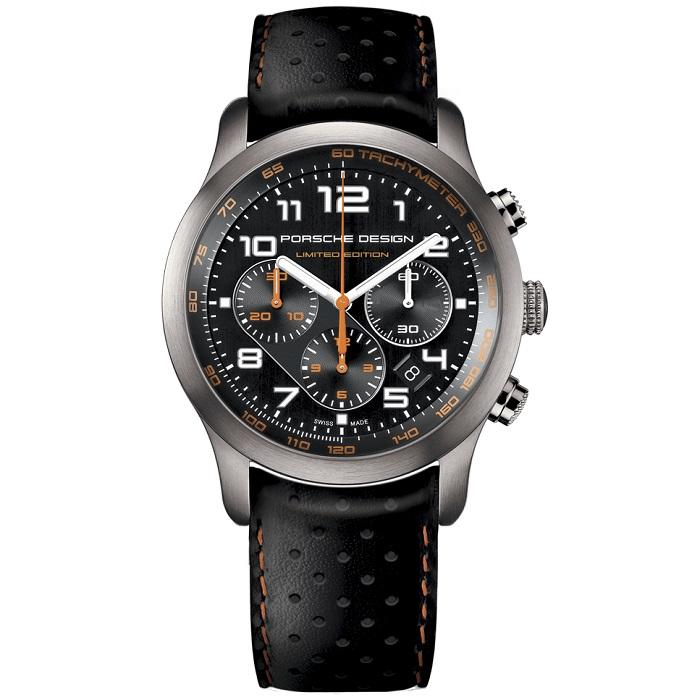 Ρολόι ανδρικό Porsche Design 6612.11.43.1179 Limited Edition με δερμάτινο  λουρί και μαύρο καντράν 9c066d58b6b