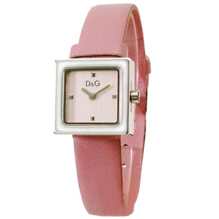 Ρολόι γυναικείο D G 3719250850 με δερμάτινο λουρί και ροζ καντράν 0b0e157a866