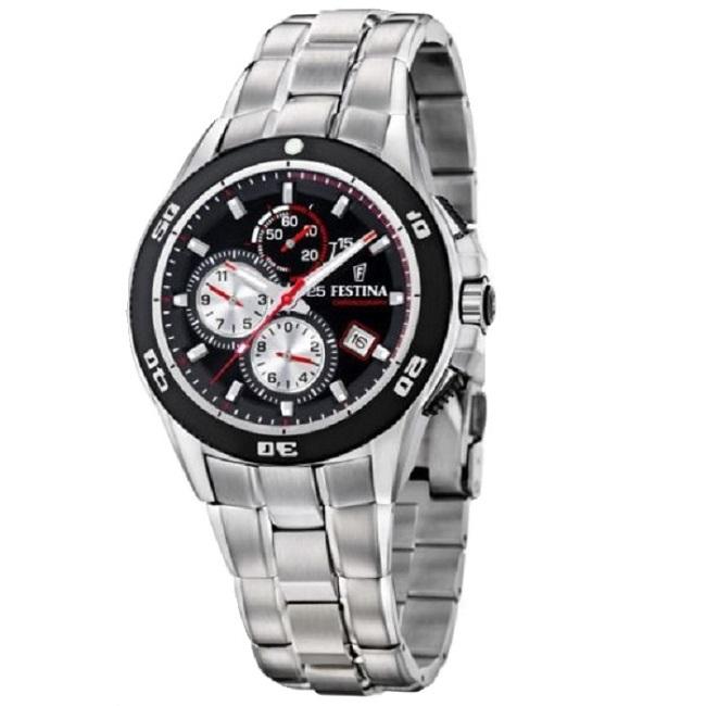 Ρολόι ανδρικό Festina F16296-3 Chronograph με μπρασελέ και μαύρο καντράν ce26a89a3ec