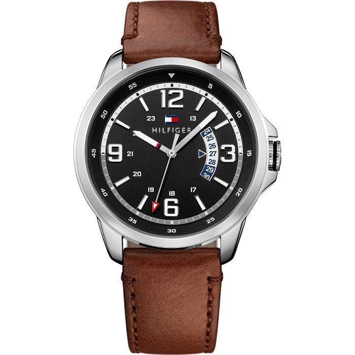 Ρολόι ανδρικό Tommy Hilfiger Henry 1791321 με δερμάτινο λουρί και μαύρο  καντράν 1c26917b5bd