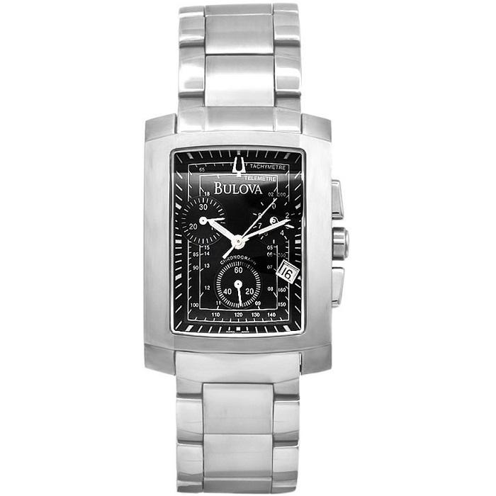 Ρολόι ανδρικό Bulova Classic 63F25 Chronograph με μπρασελέ και μαύρο καντράν 142dc542bc3