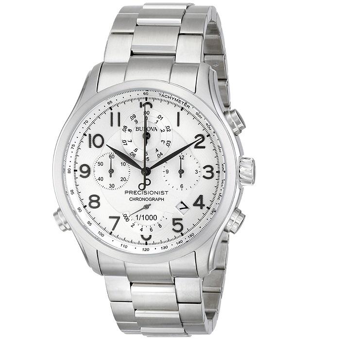Ρολόι ανδρικό Bulova Presicionist 96B183 Chronograph με μπρασελέ και λευκό  καντράν e2007eb95b5