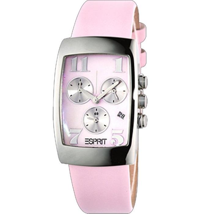 Ρολόι γυναικείο Esprit Luscius ES2Z372 με δερμάτινο λουρί και ρόζ καντράν 409aced8d3a