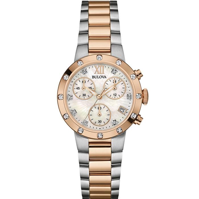 Ρολόι ανδρικό Bulova Curv 98A155 Chronograph με δερμάτινο λουρί και μαύρο  καντράν. €740.00 €619.00 Προσθήκη στο καλάθι · bulova diamond 98w210 1eb3d060f9a