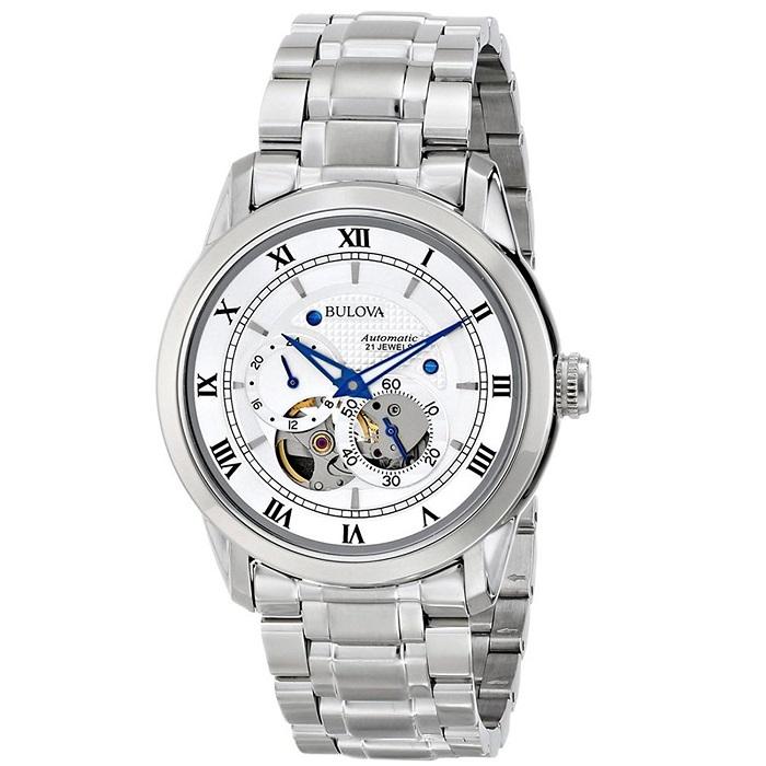 Ρολόι ανδρικό Bulova Automatic 96A118 με μπρασελέ και λευκό Open καντράν c65731600f0
