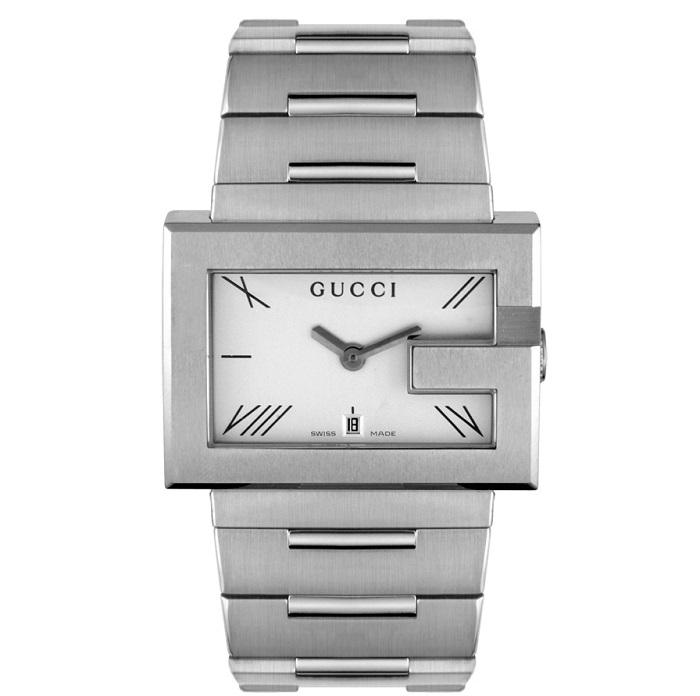 Ρολόι ανδρικό Gucci Classic YA100306 με μπρασελέ και λευκό καντράν 5e814bd9799