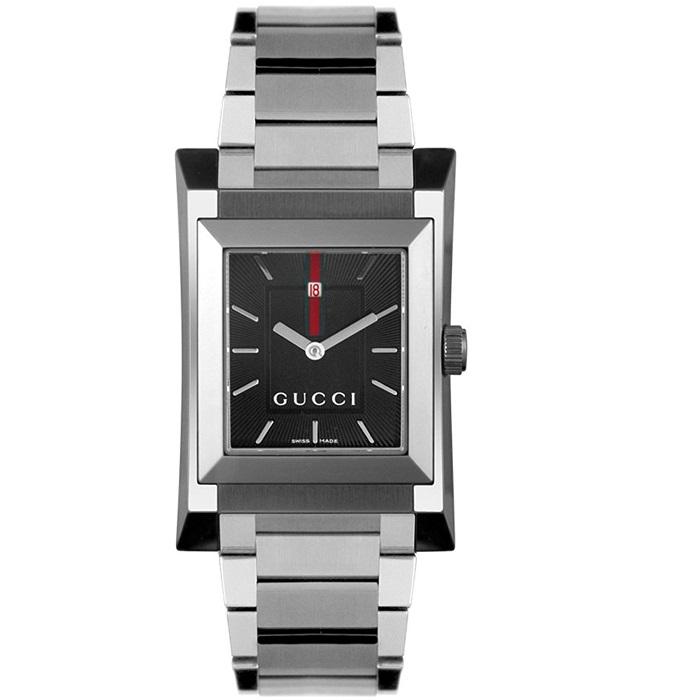 Ρολόι ανδρικό Gucci Classic YA111303 με μπρασελέ και μαύρο καντράν 9f336063aa9