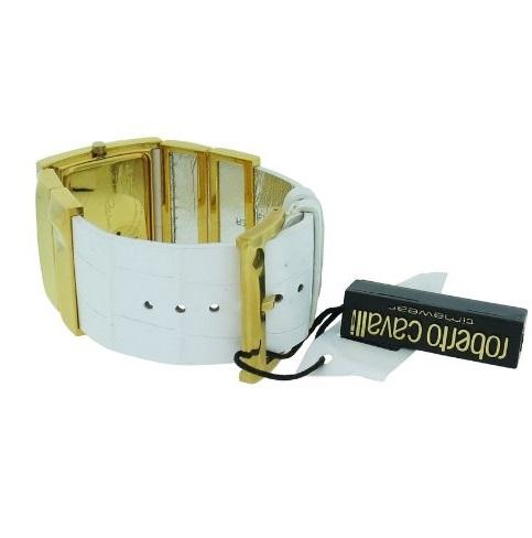 Ρολόι γυναικείο Roberto Cavalli Croco Tail R7251270017 με δερμάτινο λουρί  με μεταλλικά στοιχεία και σαμπανιζέ καντράν 939d1154988
