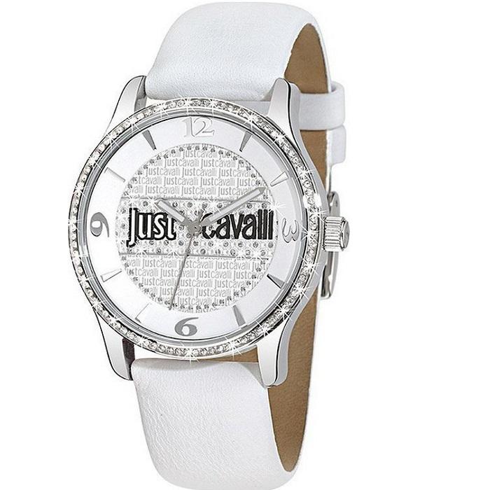Ρολόι γυναικείο Just Cavalli R7251127503 με δερμάτινο λουρί και λευκό  καντράν 782fa2b0da2