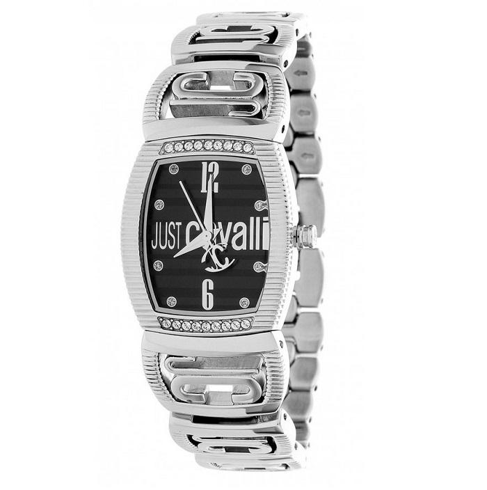 Ρολόι γυναικείο Just Cavalli R7253171525 με μπρασελέ και μαύρο καντράν f7281ce87ec