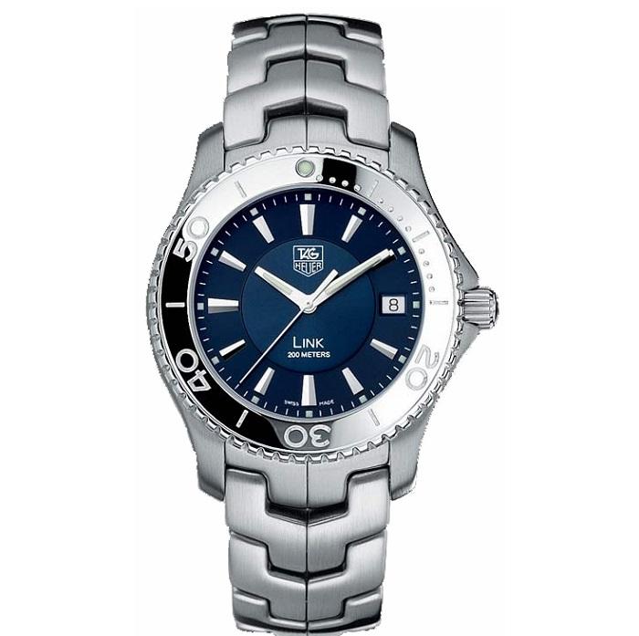 Ρολόι ανδρικό Tag Heuer WJ1112.BA0570 με μπρασελέ και μπλε καντράν 99fd8100015