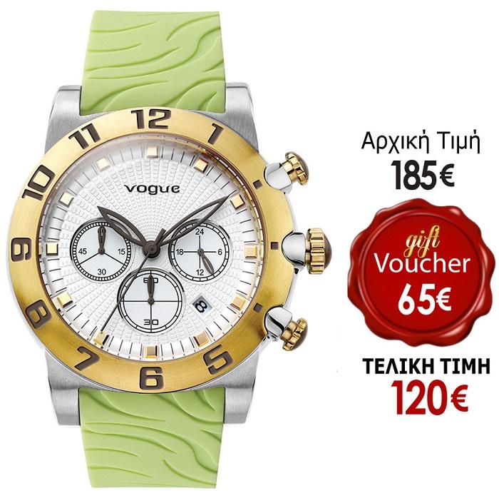 Ρολόι γυναικείο Vogue Allure Chrono 17002.5A με Rubber και λευκό καντράν 4f3bd801ed4