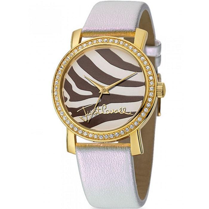 Ρολόι γυναικείο Just Cavalli R7251103517 Moon με δερμάτινο λουρί και Animal  Print καντράν b8dea5681e6