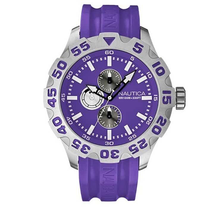 9f67ad84c9 Ρολόι Unisex Nautica A15581G με Rubber και μωβ καντράν