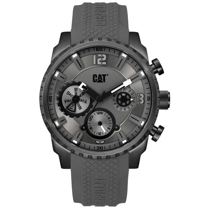Ρολόι ανδρικό Caterpillar Mossville AC15925521 Multifunction με Rubber και  γκρι καντράν 1dd5561f2d3
