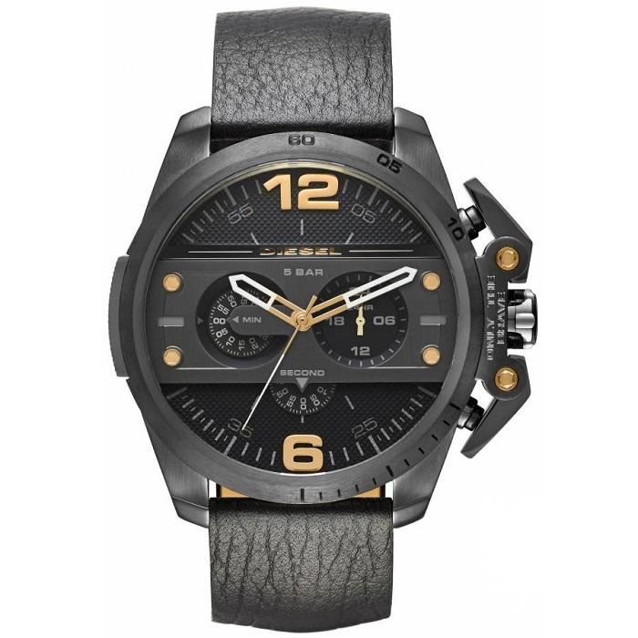 Ρολόι ανδρικό Diesel Ironside DZ4386 με δερμάτινο λουρί και μαύρο καντράν dd629d8927a