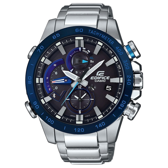 Ρολόι ανδρικό Casio Edifice EQB-800DB-1AER με μπρασελέ και μαύρο καντράν 6cda9cc30f5