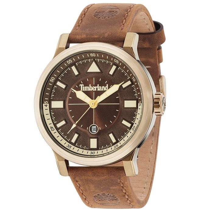 Ρολόι ανδρικό Timberland Driscoll TBL15248JSK12 με δερμάτινο λουρί και καφέ  καντράν cc034bf8e74