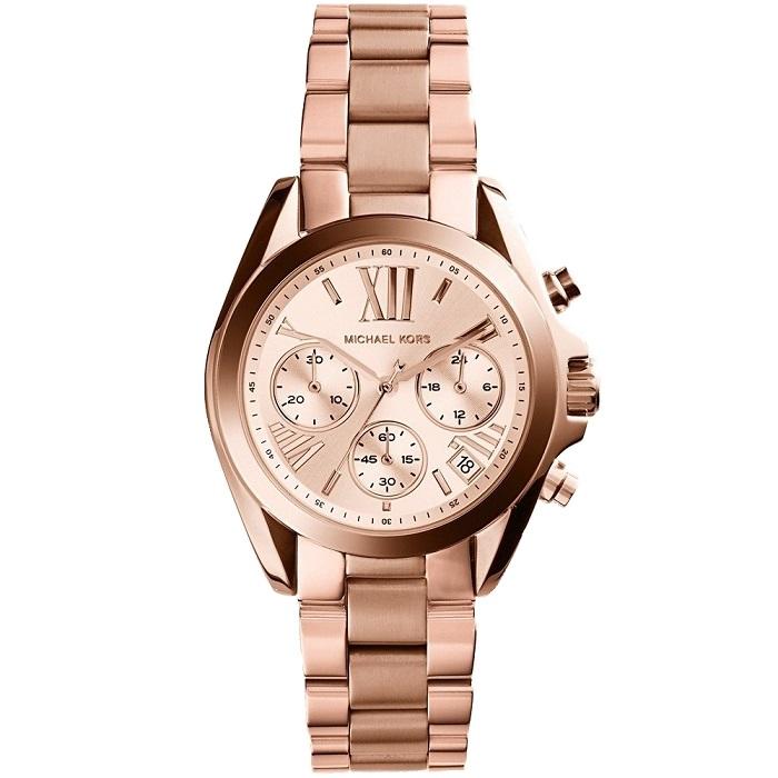 eb84d00385c Ρολόι γυναικείο Michael Kors Bradshaw MK5799 με μπρασελέ και ροζ χρυσό  καντράν