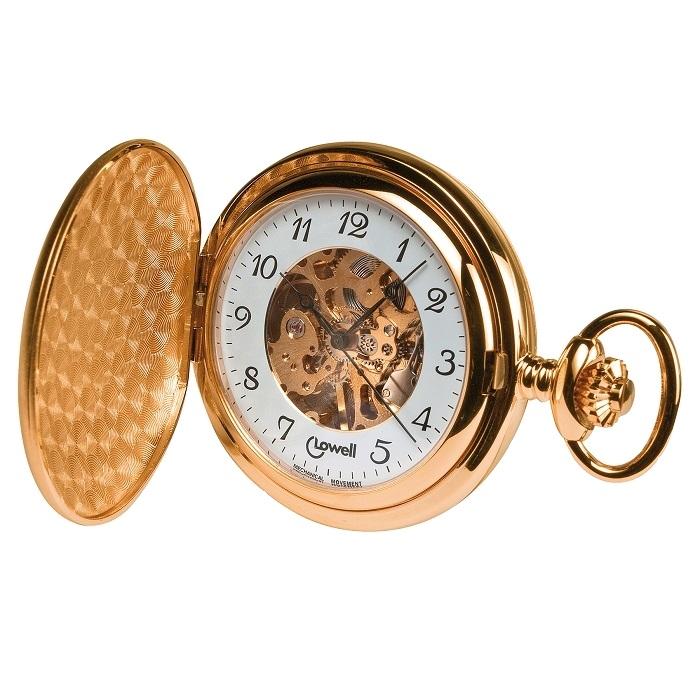 Ρολόι ανδρικό τσέπης Lowell σε κίτρινο χρυσό χρώμα με Skeleton καντράν και  διπλό καπάκι+Δώρο η αλυσίδα PO4296 - Ανδρικά Ρολόγια Γυναικεία Ρολόγια 89150cc93f8