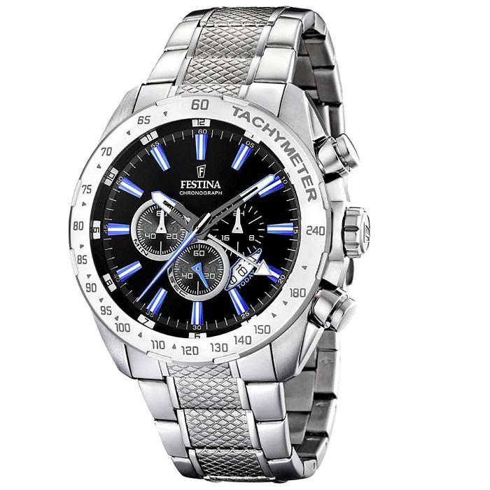 Ρολόι ανδρικό Festina F16488-3 Chronograph με μπρασελέ και μαύρο καντράν b310b803873