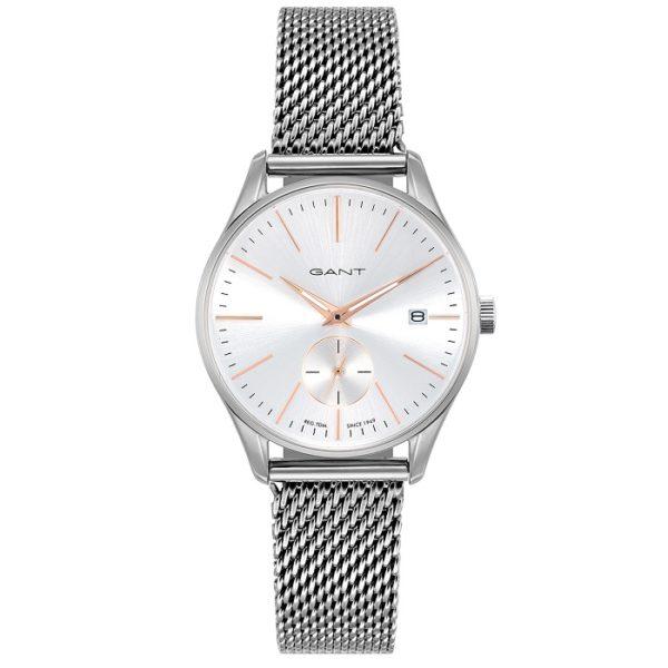 Ρολόι γυναικείο Gant Lawrence Lady GT067006 με μπρασελέ και ασημί καντράν  GT067006 cfc60356b35