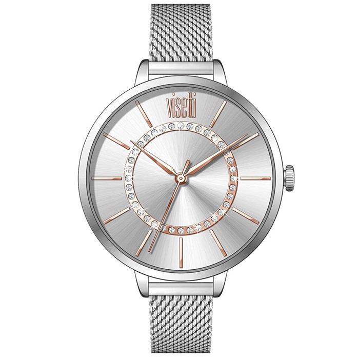 Ρολόι γυναικείο Visetti Imperiale TI-472SRS Crystals με μπρασελέ και ασημί  καντράν fcbc77bf818
