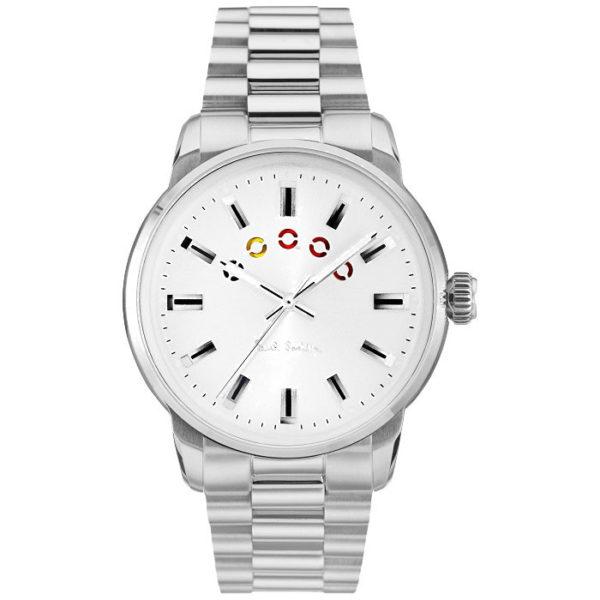 Ρολόι ανδρικό Paul Smith Block P10025 με μπρασελέ και λευκό καντράν 6ec22f09d81