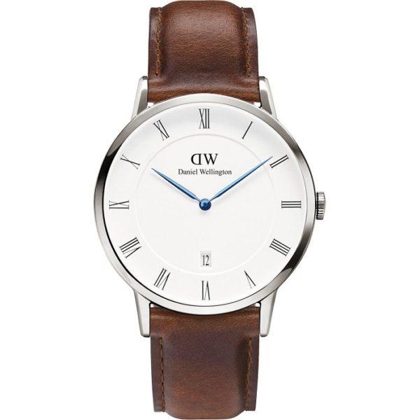 Ρολόι Unisex Daniel Wellington Dapper St Mawes DW00100087 με δερμάτινο  λουρί και λευκό καντράν bdd68a01c9b