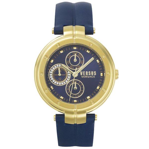 Ρολόι γυναικείο Versus by Versace Bellville VSP500218 με λουρί και μπλέ  καντράν cc3e8e2845b