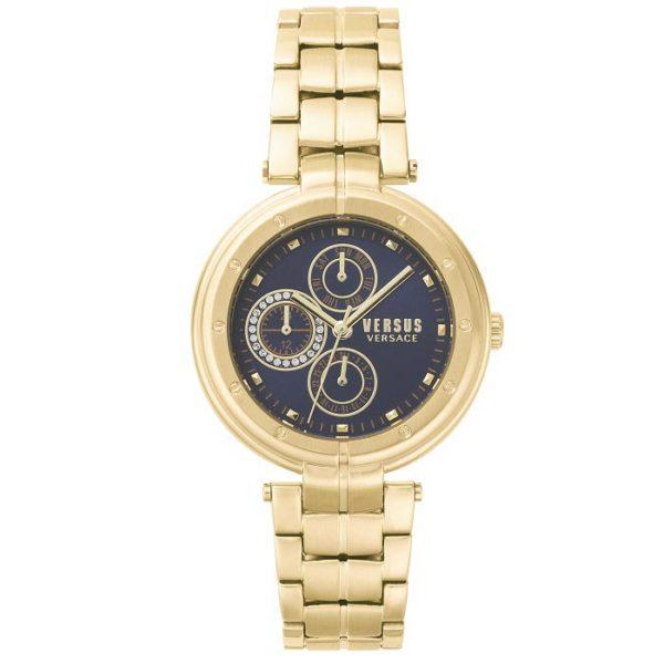 Ρολόι γυναικείο Versus by Versace VSP500518 με μπρασελέ και μπλε καντράν da8f538343a