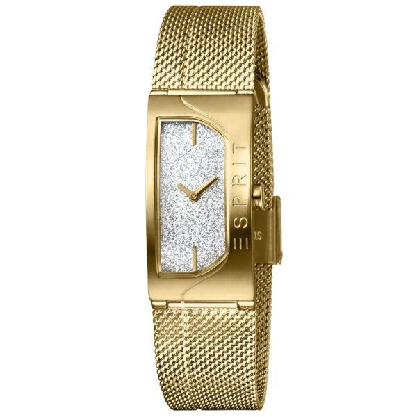 Ρολόι γυναικείο Esprit Houston Glam ES1L045M0215 με μπρασελέ και ασημί  Glitter καντράν 6a264150f8d