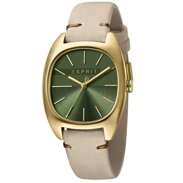 Ρολόι γυναικείο Esprit Infinity ES1L038L0055 με δερμάτινο λουρί και πράσινο  καντράν 361e15a679e