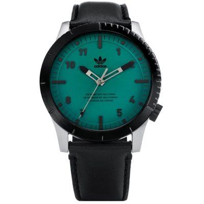 Ρολόι ανδρικό Adidas Cypher LX1 Z06-2960-00 με δερμάτινο λουρί και πετρόλ  καντράν 64a2ede1954