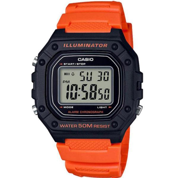 Ρολόι ανδρικό Casio Collection W-218H-4B2VEF με Rubber και ψηφιακό καντράν a9ac48dda31