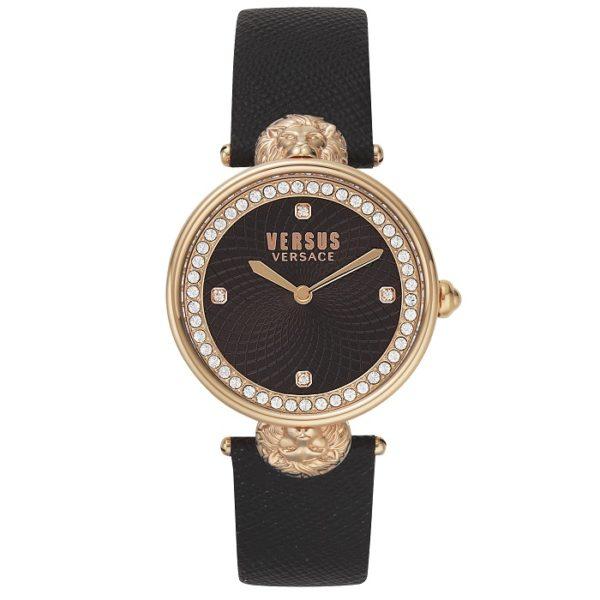 e2139134a8 Ρολόι γυναικείο Versus By Versace Victoria Harbour VSP331518 με δερμάτινο  λουρί και μαύρο καντράν