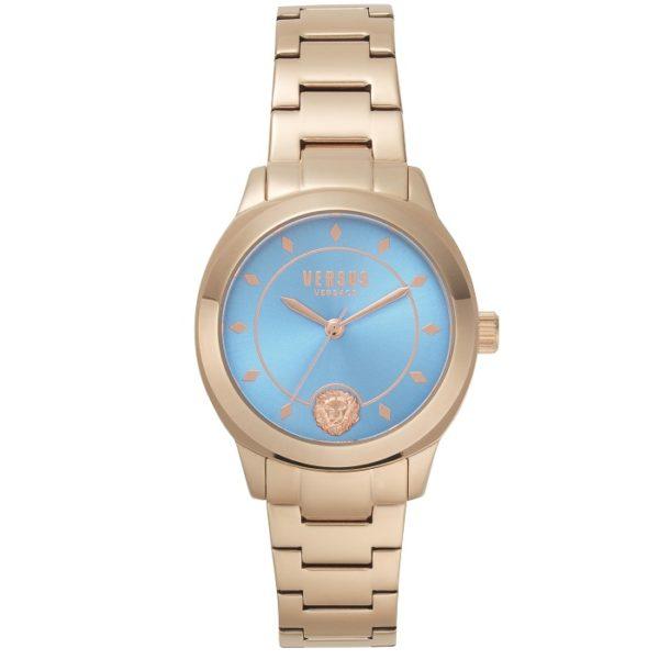 Ρολόι γυναικείο Versus By Versace Durbanville VSPBU0918 με μπρασελέ και  γαλάζιο καντράν 9042feedc83