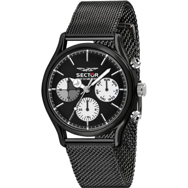 Ρολόι ανδρικό Sector 660 R3253517003 Multifunction με μπρασελέ και μαύρο  καντράν 72721c50b8a