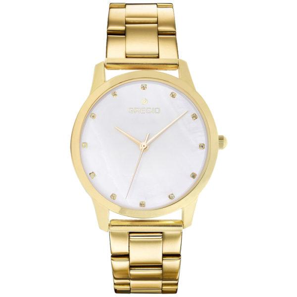 Ρολόι γυναικείο Gregio Nora GR123020 με μπρασελέ και λευκό φιλντισένιο  καντράν 113ca38f154
