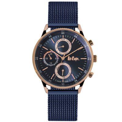 Ρολόι ανδρικό Lee Cooper Multifunction LC06479.490 με μπρασελέ και μπλε  καντράν b221532de05