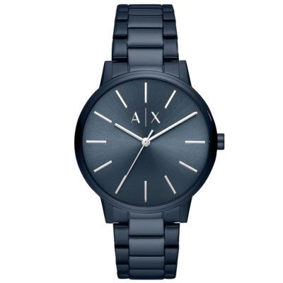 Ρολόι ανδρικό Armani Exchange AX2702 με μπρασελέ και μπλε σκούρο καντράν 8deb9394f01