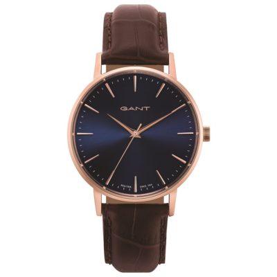 Ρολόι ανδρικό Gant Park Hill GT081008 με δερμάτινο λουρί και μπλε καντράν 566ef66b762