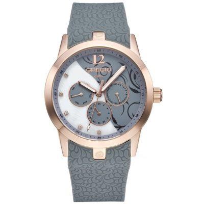 Ρολόι γυναικείο Gregio Delusion GR113084 Multifunction με Rubber και λευκό  φιλντισένιο – γκρι καντράν b80dc099ba3