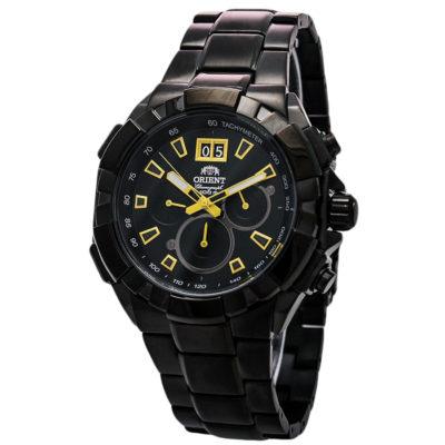 Ρολόι ανδρικό Orient Chronograph FTV00007B0 με μπρασελέ και μαύρο καντράν ae26d2f8e28