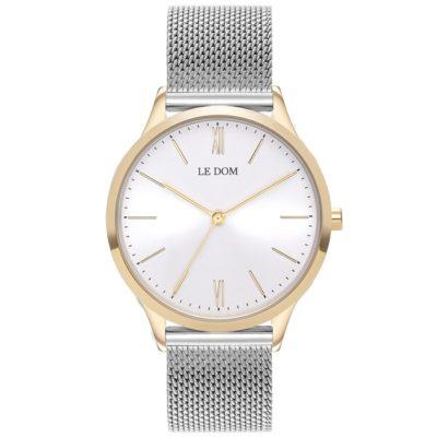 Ρολόι γυναικείο Le Dom Classic LD.1000-8 με μπρασελέ και λευκό μεταλλικό  καντράν eacf89557ab
