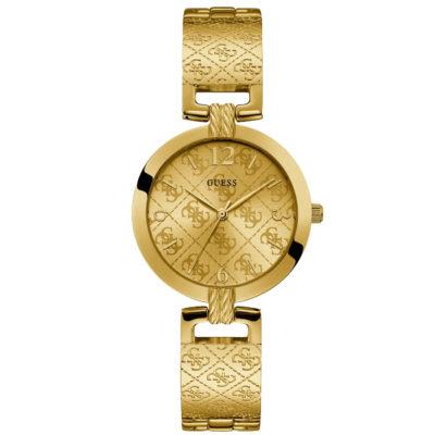 Ρολόι γυναικείο Guess Fashion W1228L2 με μπρασελέ και κίτρινο χρυσό καντράν 7a8481a0157