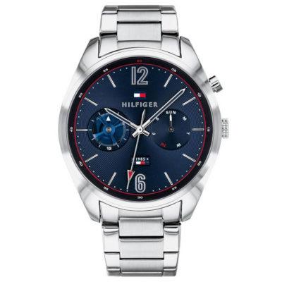 Ρολόι ανδρικό Tommy Hilfiger Deacan 1791551 με μπρασελέ και μπλε σκούρο  καντράν bfc600b8404