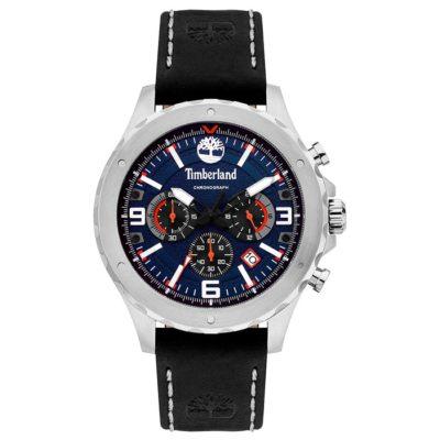 Ρολόι ανδρικό Timberland Greensboro TBL15634JS03 Chronograph με δερμάτινο  λουρί και μπλε καντράν f5b19848c63