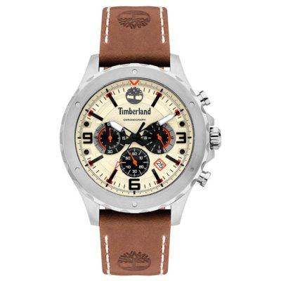 Ρολόι ανδρικό Timberland Greensboro TBL15634JS07 Chronograph με δερμάτινο  λουρί και μπεζ καντράν 19760898a64